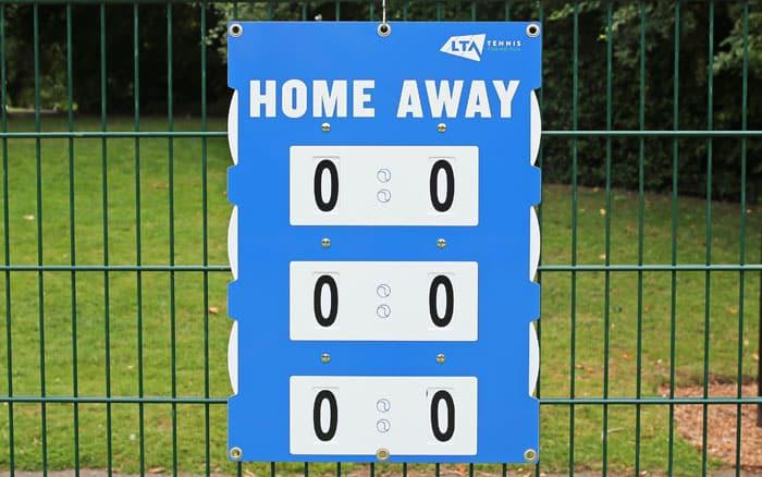 Lawn Tennis Association Match Pointer Tennis Scoreboard