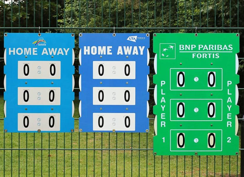 tennis scoreboards