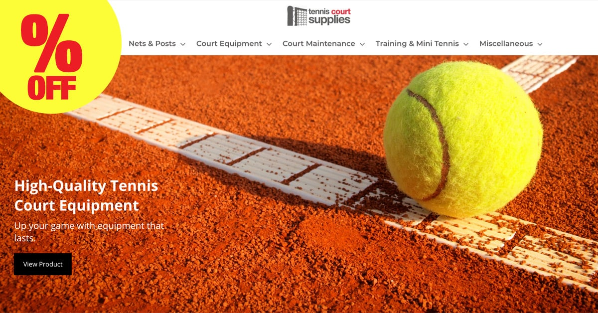 tennis court supplies discount