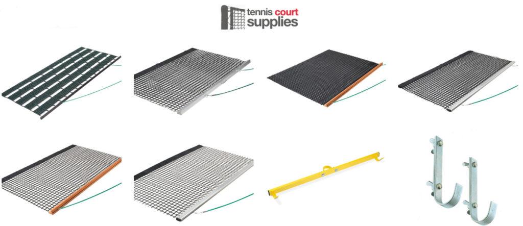 tennis court drag mats